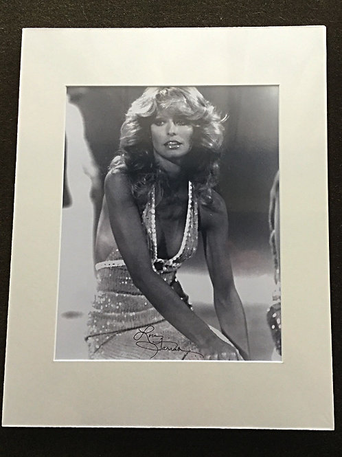 Farrah Fawcett Signed and Matted Photo