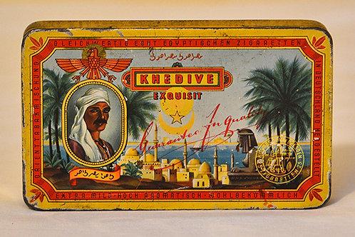 Vintage Khedive tobacco tin
