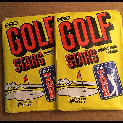 1981 Donruss Golf unopened card packs..