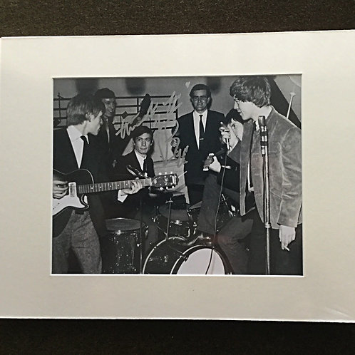 Charlie Watts signed 8x10