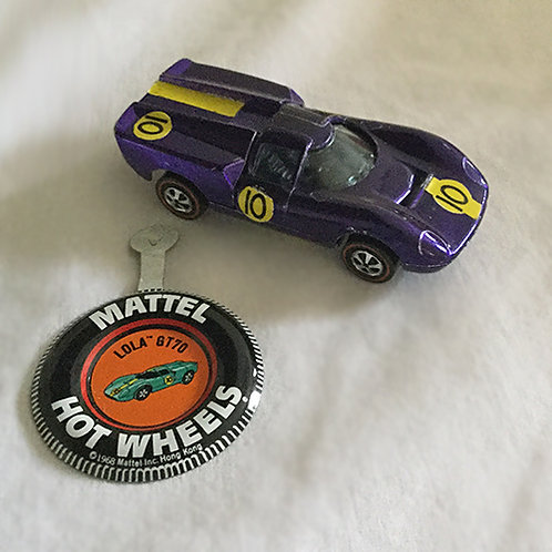Mattel Hot Wheels Lola Gt70 with badge