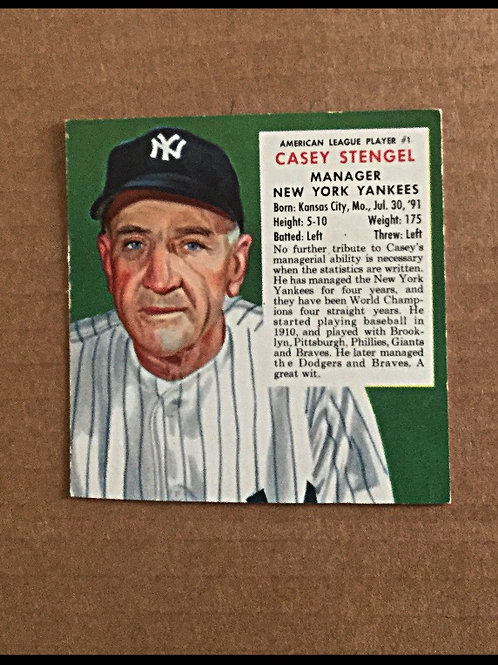 1953 Red Man Tobacco Casey Stengel