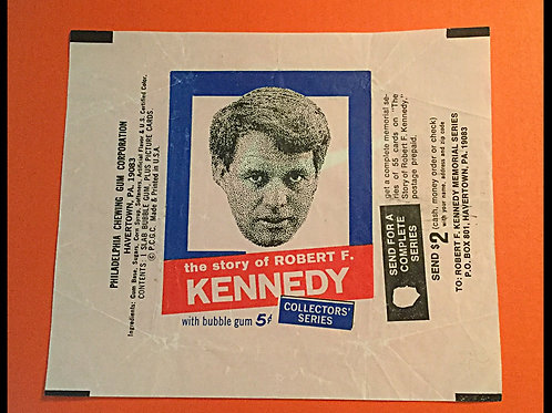 1968 Philiadelphia Gum Robert Kennedy Wrapper