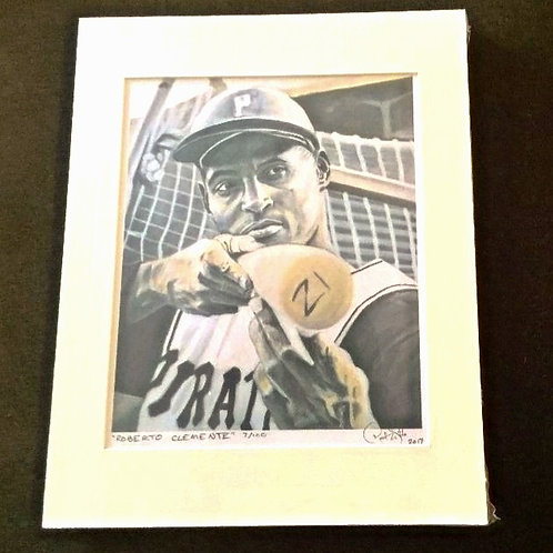 Roberto Clemente Art Print Signed by Artist
