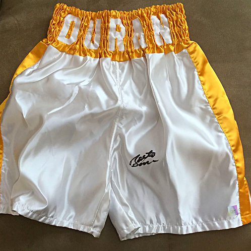 Roberto Duran Signed Boxing Trunks