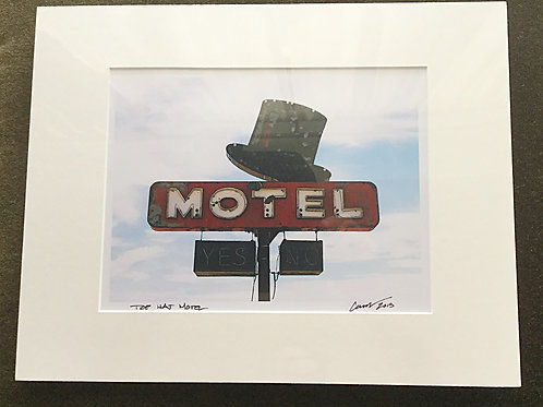 Top Hat Motel Matted Photo