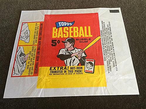 1965 Topps Baseball Wrapper