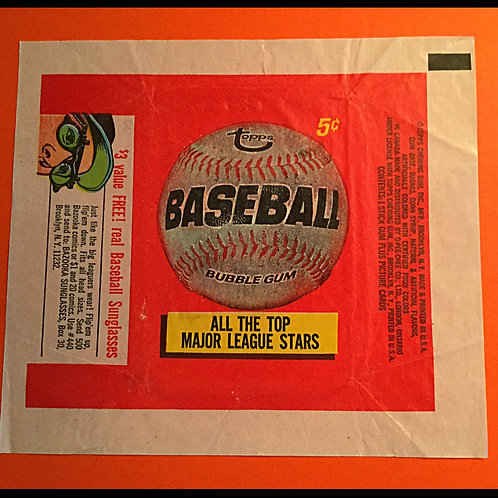 1966 Topps Baseball Card Wrapper