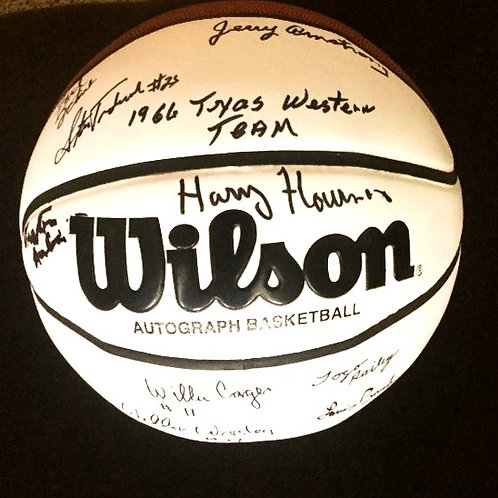 1966 Texas Western Autographed Basketball