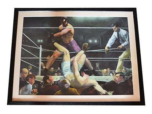 Dempsey Vs Firpo Framed Boxing Art