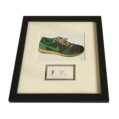 Phil Knight Signed and Framed Business Card