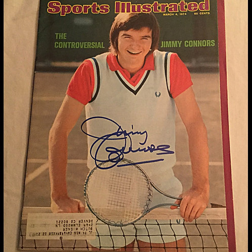 Jimmy Connors signed Sports Illustrated