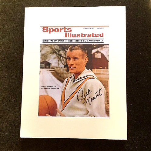 Rick Mount Signed Sports Illustrated Cover