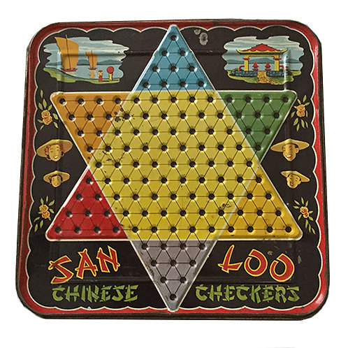 50s 60s Chinese Checkers Game Board
