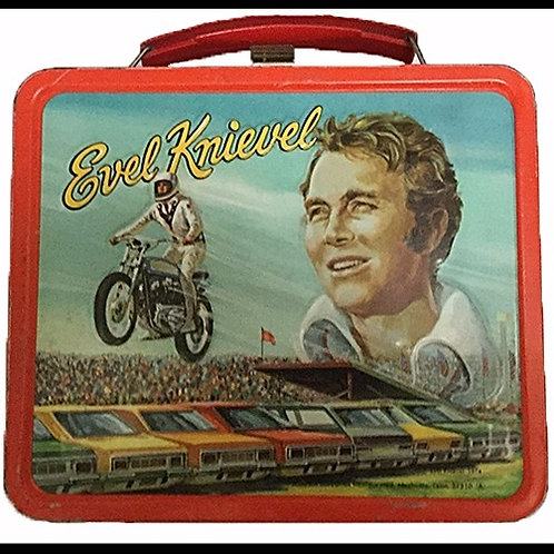 Evel Knievel lunchbox from 1974