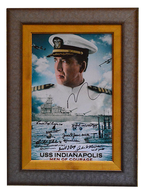 Framed and Signed USS Indianapolis Movie Poster
