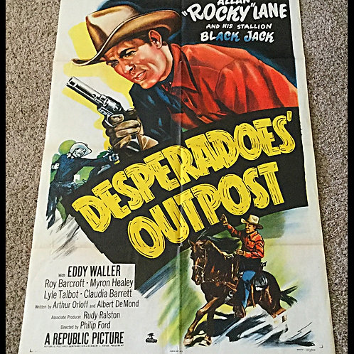 1952 Desperadoes' Outpost Movie Poster