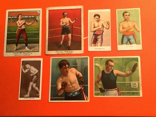 Vintage Boxing Card Lot