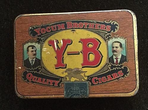 Yocum Brothers cigar tin