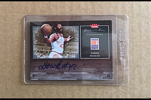 Connie Hawkins signed Fleer card
