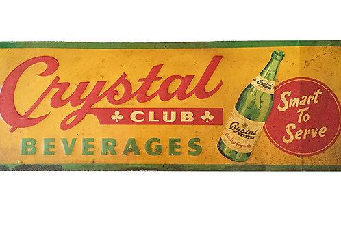 Vintage Crystal Beverage Sign