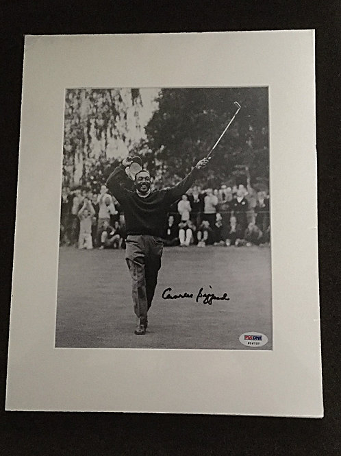 Charlie Sifford matted signed photo