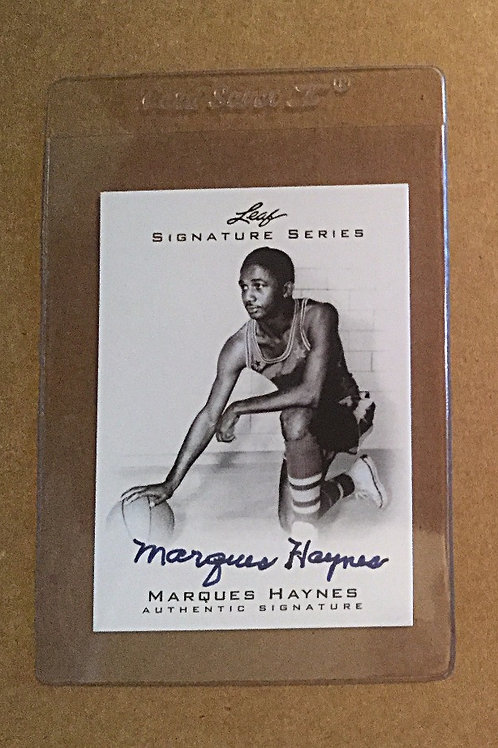 Marques Haynes signed Leaf card