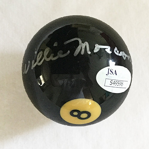 Willie Mosconi signed 8 ball