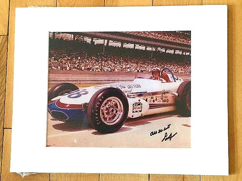 Parnelli Jones Autographed and Matted Photo