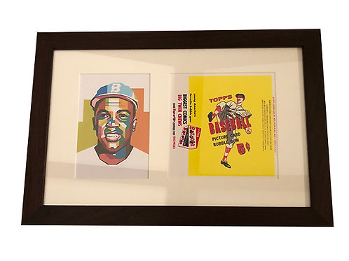 Jackie Robinson Framed Pop Art Piece