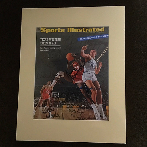 Texas Western signed Sports Illustrated photo