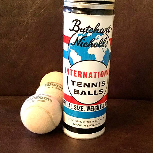 Vintage Tennis Ball Can with Balls