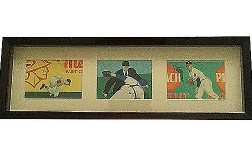 Baseball Art Cards Framed