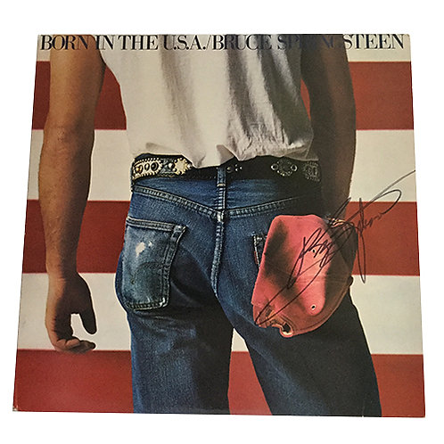 Bruce Springsteen signed album
