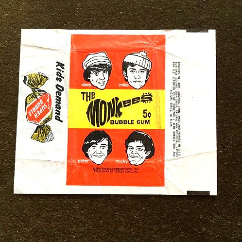 1966 Monkees Picture Card Wrapper