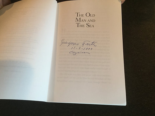 The Old Man And The Sea Signed Book