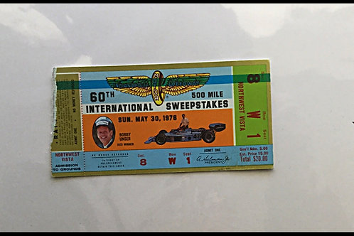 1976 Indy 500 Ticket Stub