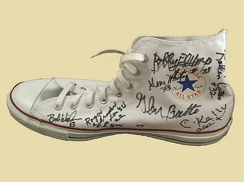 Hoosiers high top Converse shoe signed