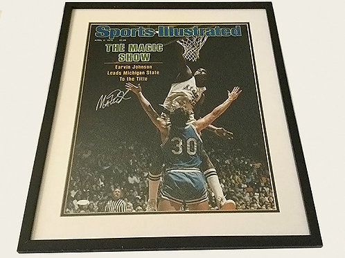 Autographed Magic Johnson SI Cover