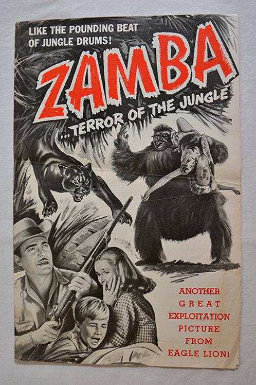 Vintage Zamba Movie Poster