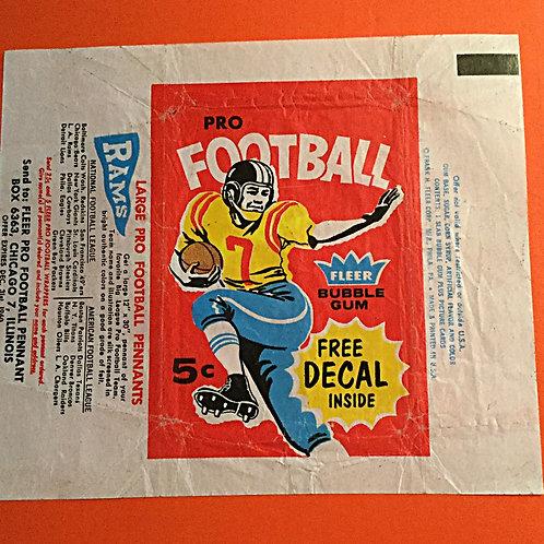 1960 Fleer Football Wax Wrapper