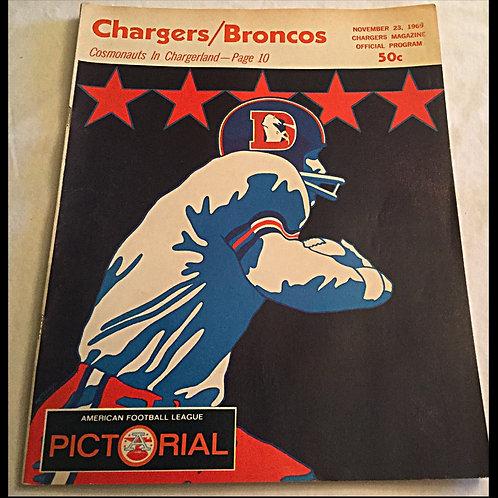 1969 Chargers vs Broncos Program