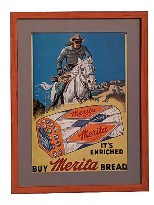 Framed Merita Bread Sign