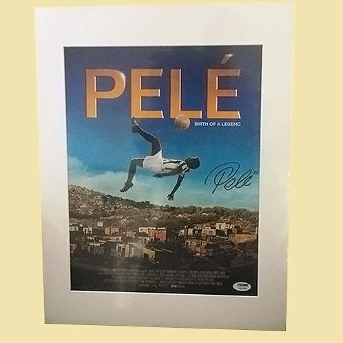 Pele signed Movie Poster