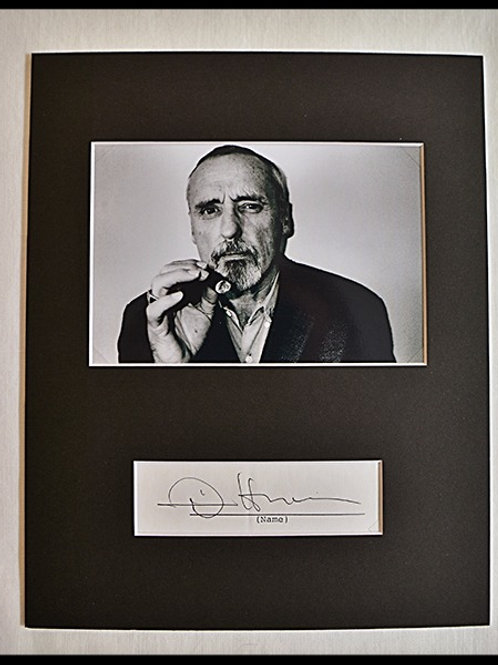 Dennis Hopper signed matted and framed photo 8x10