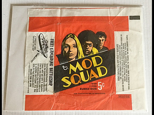 1969 Topps Mod Squad Wrapper