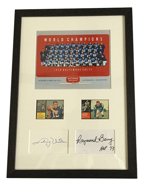 Framed Colts Ad With Autographs