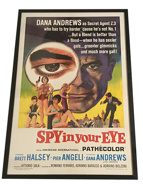 1965 Spy in your Eye Framed Movie Poster