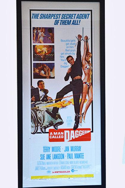 1968 A Man Called Dagger Framed Lobby Poster