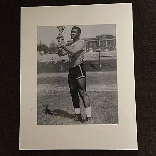 Jim Brown matted college lacrosse photo